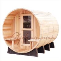 Buy cheap 8foot by 8 foot for 4-6 Person Outdoor Red Cedar Barrel Sauna  With Harvia Elecrical sauna heater product