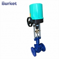 Best DN100 4-20ma 220v50hz Electric motor drive proportional Steam Control Valve for Textile pipelines wholesale