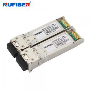 Best 1330nm 1270nm 10G SFP+ Transceiver , Bidi LC 20km Sfp+ Fiber Module wholesale