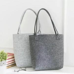 Best Free Sample Lowest MOQ High Quality Big Tote Bag Shopping Felt Handbags. size is 35cm*30cm 2mm microfiber material. wholesale