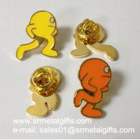 Best Metal icon enamel lapel pin with epoxy, butterfly clasp lapel pin wholesale