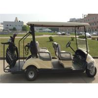 Golden Eco Friendly 4 Passenger Electrical Golf Carts With 2 Years Warranty