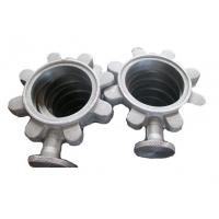 Best Precision Butterfly Valve Body Stainless Steel Valve Parts Silver Color ISO9001 wholesale