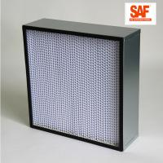 Best Deep Pleat High Efficiency Media Filter , Galvanized Frame H14 Hepa Filter wholesale