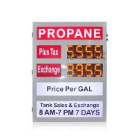 China Colorful Gas Sign Full Color Outdoor Advertising Led Display 2 Years Warranty on sale