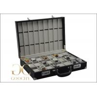 China 24 Watches Carrying Case / Leather Watch Storage Case For 24 Watches 9 Watch Straps wholesale