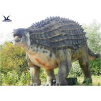 Cheap Animatronic Outdoor Dinosaur Statues , Dinosaur Yard Decorations With Infrared Ray Sensor for sale