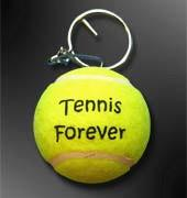 Best promotional logo printed tennis ball keychain wholesale
