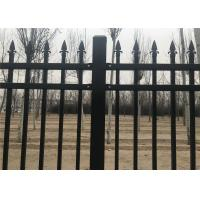Cheap Pressed Punched Steel Fence Panels Commercial / Industrial Security Fencing for sale