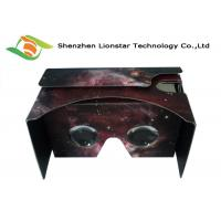 Best 3.5-6.0 Inch Cell Phone Cardboard VR Viewer Waterproof With Two Sides Printing wholesale