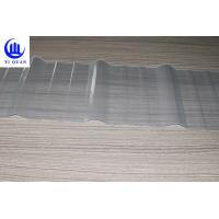 China Clear Color Transparent Corrugated Roofing Sheets  Fiberglass Material High Strength Sun Sheet on sale