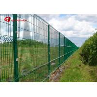 China Anti Climb PVC Coated Wire Mesh Fence Panels 1530mm 1830mm 2030mm For Multi Color on sale