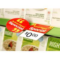 China Durable Shelf Talker Labels Retail Shelf Sign Holders Spot UV Printing on sale