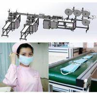 Best Flat Disposable Mask Machine System with 3 layer PP Nonwoven Blue Color CE Approved wholesale