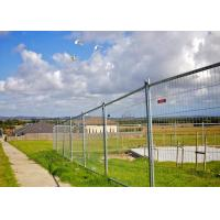 Best Hot Dipped Galvanized Steel Building Site Security Fence 6 X 12 Feet With Flat Feet wholesale