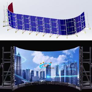 Best Light Weight LED Screen Truss Group Support Truss System For 640*480mm Cabinet Size wholesale