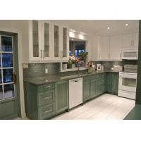 China Paint Finish Solid Wood Kitchen Cabinets Blum / Dtc Hardware With Granite Countertop on sale