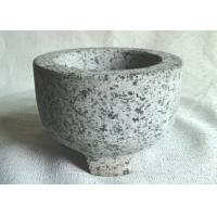 China Custom Shape Granite Stone Bowl Outside Honed Finish Non Toxic With 3 Legs on sale