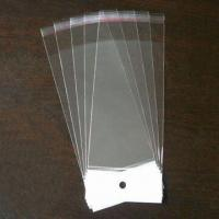 Best Cello bag with white header in size of 7.3x20.5cm wholesale