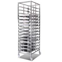 Best Commercial Stainless Steel Baking Tray Trolley For Food Factory Durable wholesale