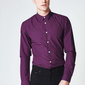 Best Slim Fit Mens Office Wear Shirts , Bright Color Men's Business Casual Shirts wholesale