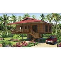Best Light Steel Frame Wooden Home Beach Bungalows With Shower , Kitchen wholesale