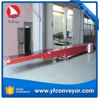 China 3 Parts Telescopic Belt Conveyor for Loading Unloading 20ft Containers on sale