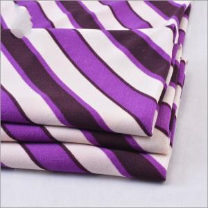 China Twist Yarn 94% Polyester 6% Lycra Printed Stripe ITY Jersey Fabric on sale