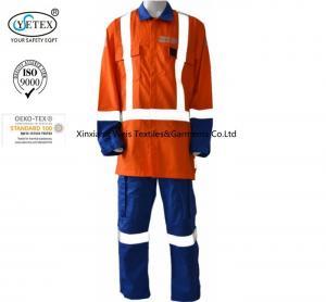 Best Anti Arc Flash Fire Retardant Suit / Fire Retardant Boiler Suit With Reflective Trim wholesale