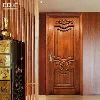 Best Safety Residential Solid Hardwood Internal Doors With Handmade Carved Flowers wholesale