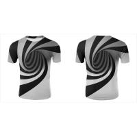Best 3D V Neck Men Women Custom Sublimated T Shirts Hypnotic Funny Printing Short Sleeve wholesale