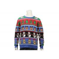 Best Long Sleeve Ugly Christmas Sweater With Christmas Trees Feature Patterns For Men wholesale