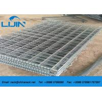 China Stackable Detachable Wire Mesh Storage Cages , 50 * 50 Grinding Metal Storage Cage on sale