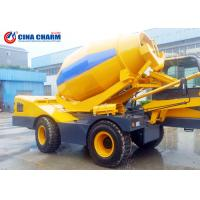 Best Full Hydraulic Driving Self Loading Concrete Mixer Truck , 10m3 / H Ready Mix Concrete Truck wholesale