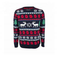 Best Christmas Sweater Knitting Xmas Deer Patterns Sweater Durable For Couple wholesale