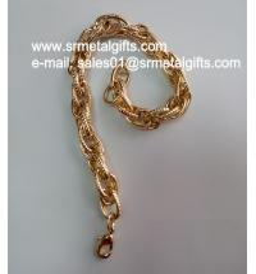 Best Imitation gold fashion steel jewelry chain bracelet chain bangle wholesale