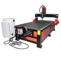 Best 4*8 Feet 4 Axis Wood CNC Router with Underneath Rotary Axis/Mach3 Control wholesale