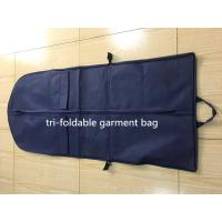 Best Tri-foldable Suit Garment Bag navy non woven and polyester with shoe pocket wholesale