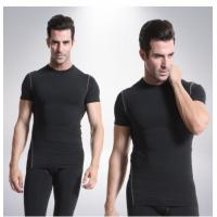 Best Quick Drying Mens Short Sleeve Compression Top Customized Color Light Weight wholesale