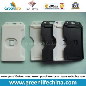 China Black/White Rigid Hard Plastic Card Holder Good Lanyard Partner on sale