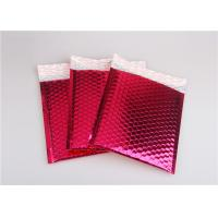 Best Rose Pink Metallic Mailing Envelopes , Colored Bubble Mailers For Transport wholesale