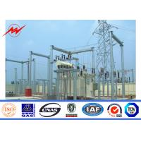 Best 10kV Hot Dip Galvanized Electric Power Transmission Line Tubular Steel Poles wholesale