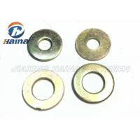 Best Color Plated Flat Washers Plain Carbon Steel Round Head For Iron Stamping Out wholesale