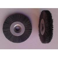 China 100 Mm OD Round Abrasive Nylon Bristle Brushes 55mm Middle Plate 10mm Face Width on sale