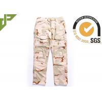 Best Desert Military Tactical Pants Built In Knee Pads For Security Guard / Police Outdoor Sport wholesale