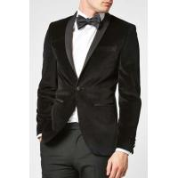 Shawl Lapel Mens Black Tuxedo Suit Slim Fit with one Button for Party Occasion