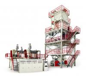 China 700-1200 Twisting Resistant Plastic Film Blowing Machine POF Heat Shrink 30-60 Ton on sale