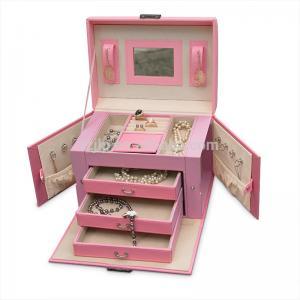 Best Durable Big Pink Luxury Jewelry Box Lightweight Custom Logo Eco Friendly wholesale