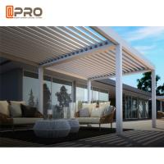 Best Aluminum Waterproof Sunshade Pergola Aluminium Outdoor With Adjustable Louvers wholesale