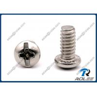 China 18-8/304/316 Stainless Steel Philips Slotted Round Head Serrated Machine Screws on sale